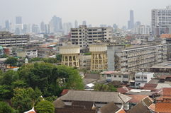 Bangkok from Golden mountain Royalty Free Stock Image