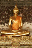 Bangkok golden seated buddha statue thailand Stock Photography