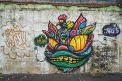 Bangkok graffiti ściana Obrazy Stock
