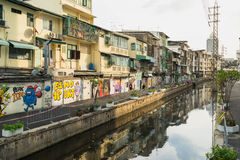 Bangkok graffiti ściana Fotografia Royalty Free