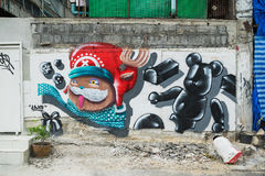 Bangkok graffiti ściana Zdjęcie Stock