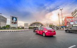 Bangkok Grand Central Terminal Railway Station in sunset Stock Photo