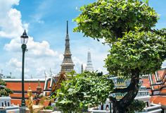 Bangkok Grand kings palace ancient temple in thailand Stock Images