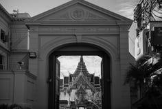 Bangkok Grand Palace Black and white Royalty Free Stock Images