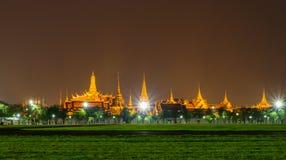 Bangkok grand palace and the temple of the Emerald Buddha. Bangkok landmark, grand palace and the temple of the Emerald Buddha, the Pramane Ground at night Stock Image