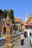 Bangkok Grand Palace. BANGKOK, THAILAND - DECEMBER 22, 2013: People visit famous Grand Palace in Bangkok. The palace has been the residence of Thai king since Royalty Free Stock Image