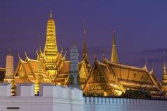 Bangkok Grand Palace in twilight. Thailand, Bangkok Grand Palace and Emerald Buddha Temple in twilight Royalty Free Stock Photos