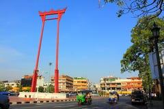 Bangkok-Grenzstein - riesiges Schwingen Stockfotos