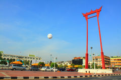 Bangkok-Grenzstein - riesiges Schwingen Stockbilder