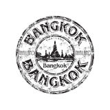 Bangkok grunge rubber stamp. Black grunge rubber stamp with the name of Bangkok the capital of Thailand written inside the stamp Royalty Free Stock Photos