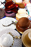 Bangkok hats for sale in market. Thailand Stock Photo