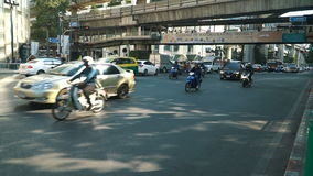 Bangkok heavy street traffic stock footage
