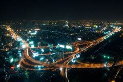 Bangkok highway ay night Royalty Free Stock Image