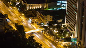 Bangkok highway street traffic night timelapse. stock video
