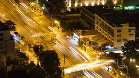 Bangkok highway street traffic night timelapse. stock footage