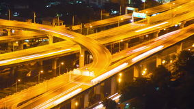 Bangkok highway street traffic night timelapse stock footage
