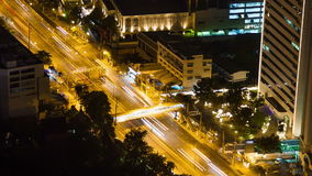 Bangkok highway street traffic night timelapse. stock video footage