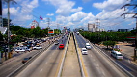 Bangkok Highway Top View Day Timelapse stock footage
