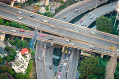 Bangkok highway traffic, Thailand. stock image