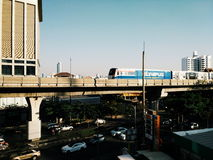 Bangkok-Himmelzug Stockfoto