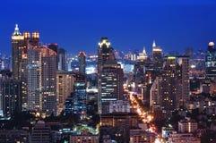 Bangkok horisont, Thailand Royaltyfri Bild