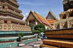 bangkok härlig po thailand wat Arkivfoton