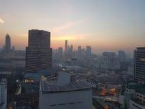 Bangkok i morgonen Fotografering för Bildbyråer