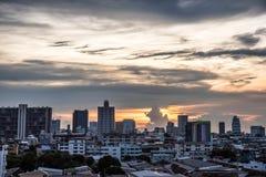 Bangkok i skymning Royaltyfri Foto