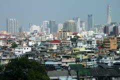 Bangkok i stadens centrum cityscape Arkivfoto