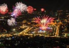 Bangkok i thailändska faders dag vår konungfödelsedagfestival, Thailan Arkivbilder