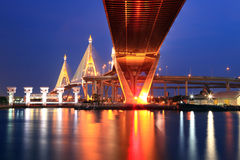 Bangkok Industrial Bridge Royalty Free Stock Images