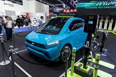 Bangkok International Motor Show 2018 MINE Mobility Thai Electricity car or EV car brand opening at car expo Stock Photos