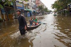 Bangkok inunda 2011 Fotos de archivo