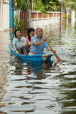 Bangkok inunda 2011 Imagen de archivo libre de regalías