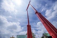 bangkok jätte- swing thailand arkivbild