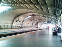 BANGKOK - JAN 15: Asian people waiting for Airport-link train in Royalty Free Stock Photography