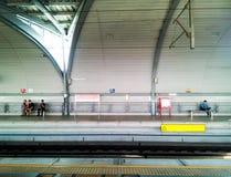 BANGKOK - JAN 15: Asian people waiting for Airport-link train in Royalty Free Stock Image