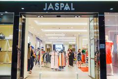Jaspal storefront in the shopping mall in Bangkok, Thailand. Jaspal have been at the forefront of the Thai fashion industry. BANGKOK - JAN 17,2019 : Jaspal stock images