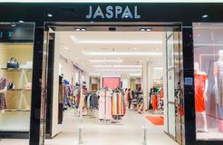 Jaspal storefront in the shopping mall in Bangkok, Thailand. Jaspal have been at the forefront of the Thai fashion industry. BANGKOK - JAN 17,2019 : Jaspal stock image