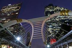 BANGKOK, JAN - 20: Niebo spaceru architektura dla pasażerów transi Fotografia Royalty Free