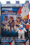 Bangkok - Jan 12, 2019 : A photo of a ghostbusters marshmallow man toy from the playmobil. Stay Puft Marshmallow man is a. Fictionary character from Ghostbuster stock images