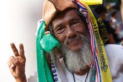 BANGKOK - 13. JANUAR 2014: Protestierender gegen die Regierung ral Stockfoto