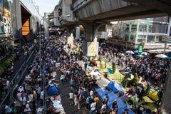 BANGKOK - 13. JANUAR 2014: Protestierender gegen die Regierung ral Lizenzfreies Stockfoto