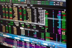 Bangkok - 2. Januar: Wirtschaftslage der Börse O Lizenzfreie Stockbilder