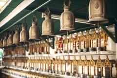 BANGKOK, JANUARY 22, 2014: Buddhist graves in a temple in Bangko Stock Image
