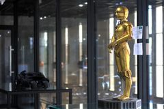 C3Po Model on display at The M Cafe royalty free stock photography