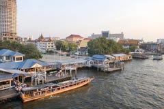 BANGKOK january 2 :Ferry boat at Chao Phraya River, Chao Phraya Stock Photography