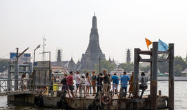 BANGKOK january 2 :Ferry boat at Chao Phraya River, Chao Phraya Stock Photography