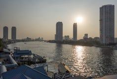 BANGKOK january 2 :Ferry boat at Chao Phraya River Royalty Free Stock Images