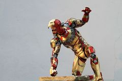 IRONMAN Figure Model 1/4 scale in action fighting royalty free stock images